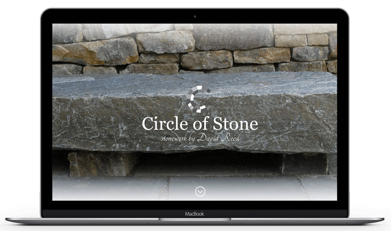 Revamping the website of a stonework artisan in Brevard, NC.